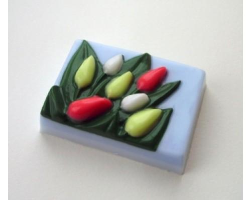 Форма для мыла пластиковая, Тюльпаны
