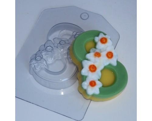 Форма для мыла пластиковая, Нарциссы по диагонали