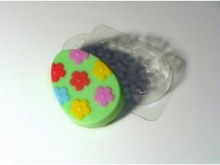Форма для мыла пластиковая, Яйцо с узором №4
