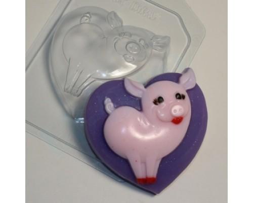 Форма для мыла пластиковая, Свинтушка