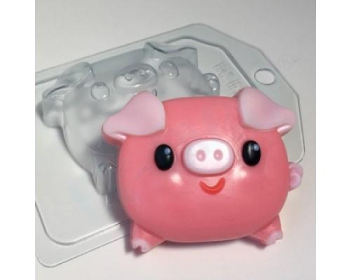 Форма для мыла пластиковая, Свинка - пухляшка
