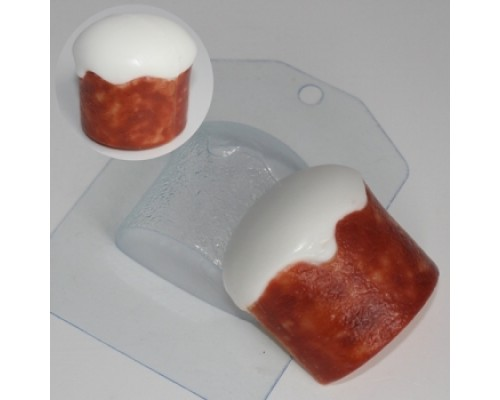 Форма для мыла пластиковая, Кулич