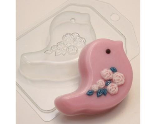 Форма для мыла пластиковая, Птичка Розы