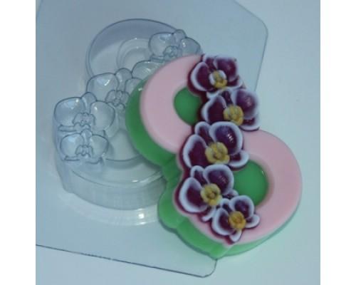 Форма для мыла пластиковая, Орхидеи по диагонали