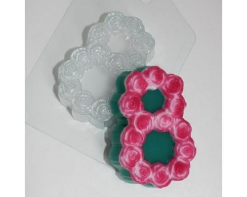 Форма для мыла пластиковая, 8 марта-Розы