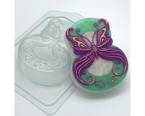 Форма для мыла пластиковая, 8 марта - Бабочка в завитушках