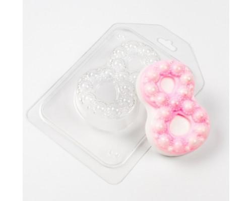Форма для мыла пластиковая, 8 марта Крупный жемчуг