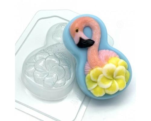 Форма для мыла пластиковая, 8 марта - Фламинго с цветами