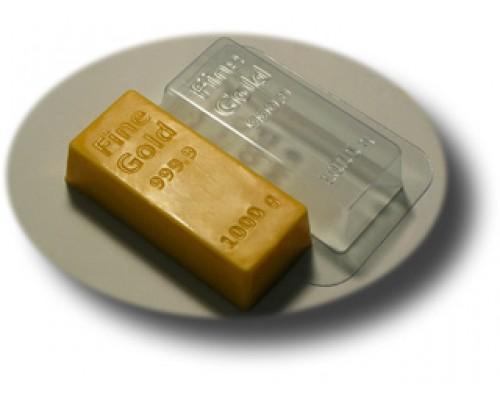 Форма для мыла пластиковая, Золотой слиток
