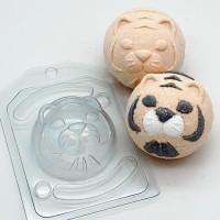 Форма для мыла пластиковая, Полусфера D70 Тигр