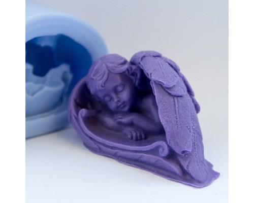 Силиконовая форма для мыла, Малыш в крыльях 3D