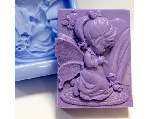 Силиконовая форма для мыла, Девочка ангел со скрипкой