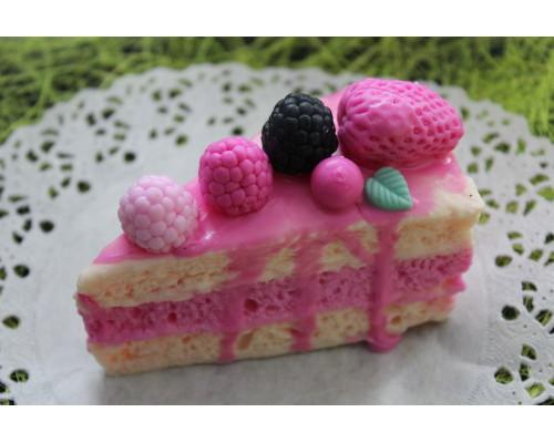 """Силиконовая форма """"Кусочек бисквитного торта без ягод"""""""