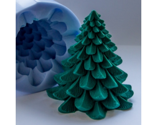Силиконовая форма для мыла, Елочка 3D