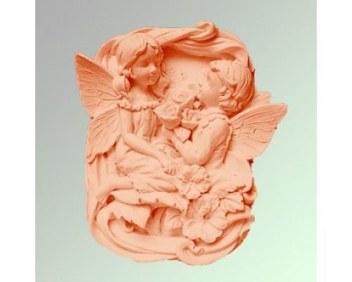 Силиконовая форма для мыла, Ангелы девочка с мальчиком