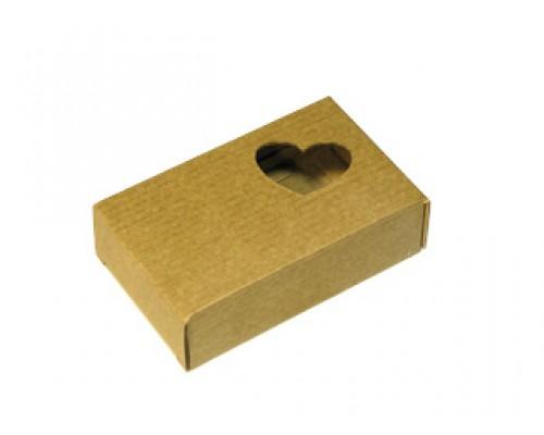 Подарочная коробка-коричневая, Сердечко