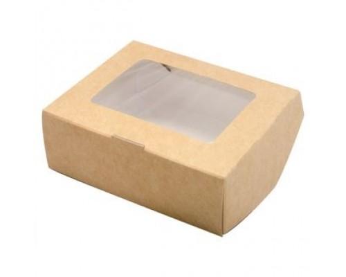 Крафт коробочка с окошком, 10*8*3
