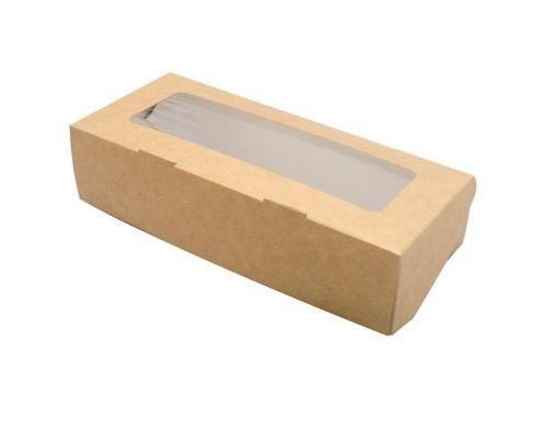 Крафт коробочка с окошком, 17*7*4
