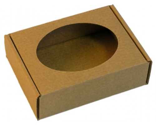 Подарочная коробка с овальным окошком