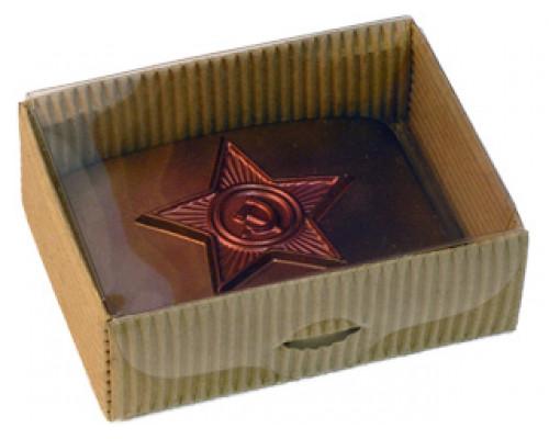 Подарочная коробка, коричневая, малая