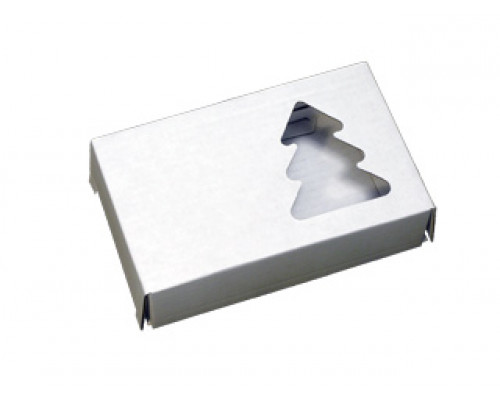 Подарочная коробка, Елочка, белая