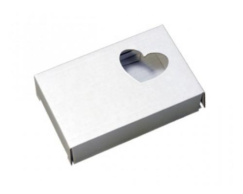 Подарочная коробка-белая, Сердечко