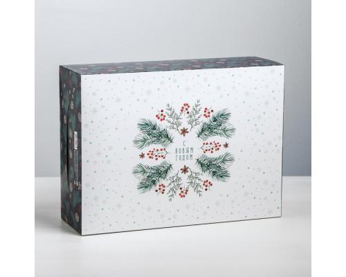 Коробка складная «С Новым годом!», 22 × 30 × 10 см