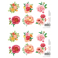 """Водорастворимые картинки Арт. 016 """"Цветы"""""""