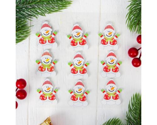 """Новогодний декор """"Снеговик"""", набор 9 шт."""