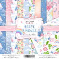 "Набор скрапбумаги ""Believe in miracle"", 30,5x30,5см"