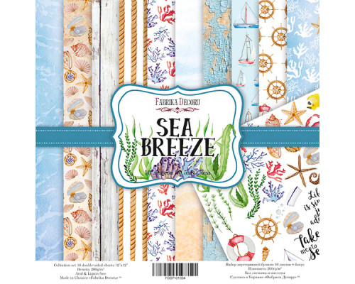 "Набор скрапбумаги ""Sea breeze"", 30.5 Х 30.5 см"