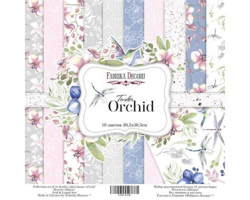 """Набор бумаги """"Tender Orchid"""", 30*30см, 10 листов"""
