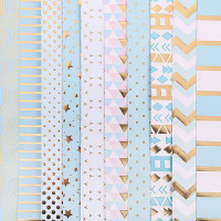 Набор бумаги для скрапбукинга с фольгированием микс «Радость дня», 10 листов 30,5 х 30,5 см, 180 г/м.
