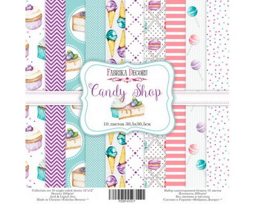 """Набор скрапбумаги """"Candy Shop"""", 30,5 Х 30,5 см"""