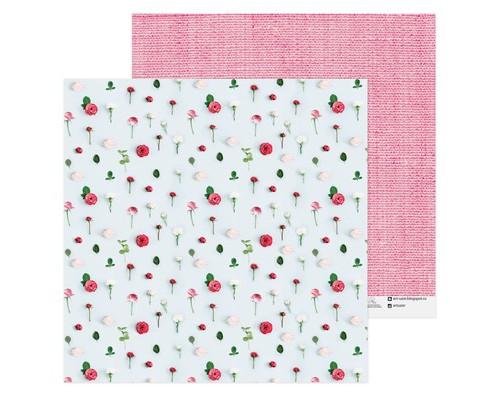 Бумага для скрапбукинга «Розы», 30,5 х 30,5 см 180 г/м