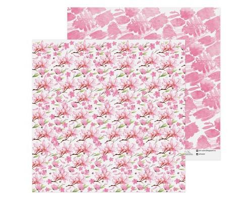Бумага для скрапбукинга «Нежные цветы», 30,5 х 30,5 см 180 г/м