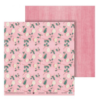 Бумага для скрапбукинга «Цветы на розовом», 30.5 × 32 см, 180 г/м