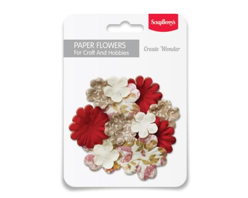 Набор бумажных цветочков, Дизайн 6