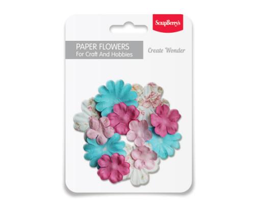 Набор бумажных цветочков, Дизайн 12