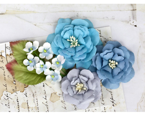Набор цветов для скрапбукинга, Firebird Teal, 566500 Prima Flowers