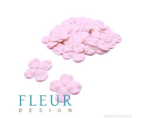 Гортензия мини Нежно-Розовая, размер цветка 3 см, 20 шт
