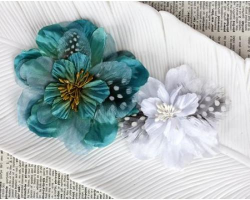 Набор цветов для скрапбукинга, Cabrione Blue Moon, 566838 Prima Flowers