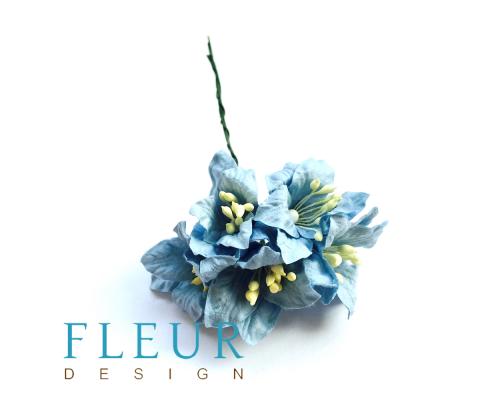 Цветы Лилии голубые, размер цветка 3,75 см, 5 шт / упаковка FD3031170