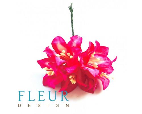 Цветы Лилии фуксия, размер цветка 3,75 см, 5 шт / упаковка FD3031516