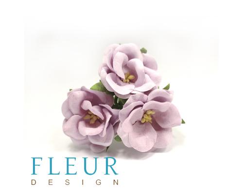 Цветы Дикие Розы сиреневые, размер цветка 4,5 см, 3 шт/упаковка, FD3123187