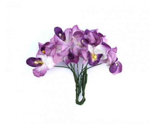 Цветы для скрапбукинга - Орхидеи, набор 10 шт ФИОЛЕТОВЫЕ