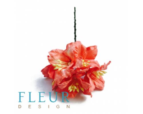 Цветы Лилии нежно-коралловые, размер цветка 3.75 см, 5 шт, FD3031099