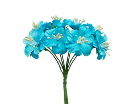 Букетик цветов, цвет Голубой