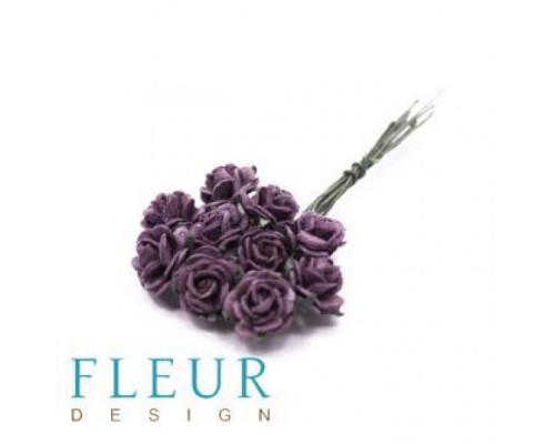 Мини-розочки Фиолетовые, размер цветка 1 см, 10 шт-упаковка FD3072182