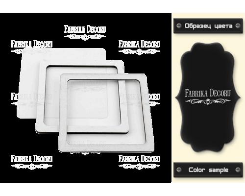 """Заготовка для шейкера """"Квадрат-2"""" 7,5x7,5 color_Black"""